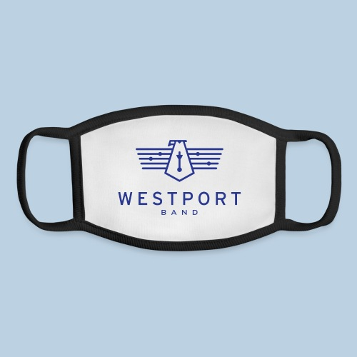Westport Band Blue on transparent - Youth Face Mask