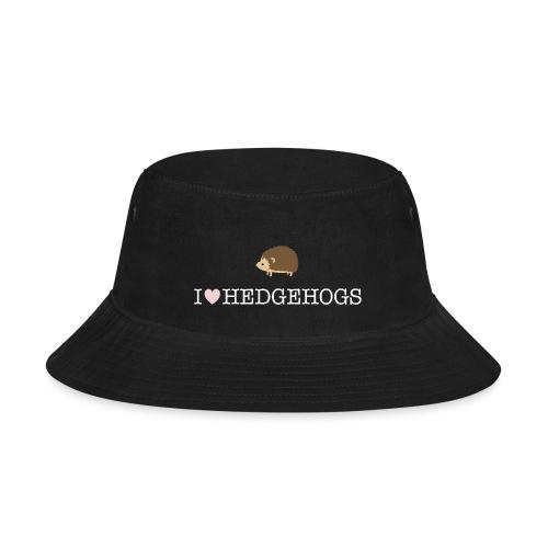 I Love Hedgehogs with Hedgehog Illustration - Bucket Hat