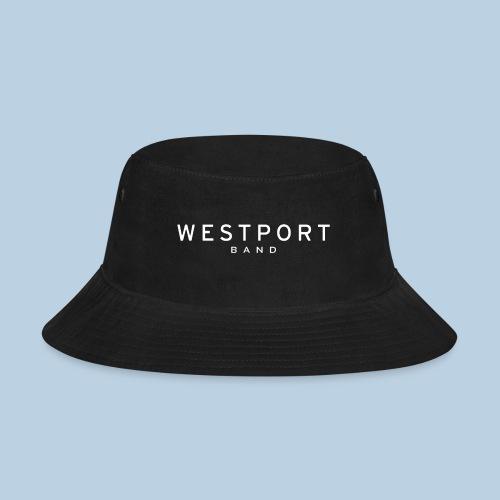 Westport Text White on transparent - Bucket Hat