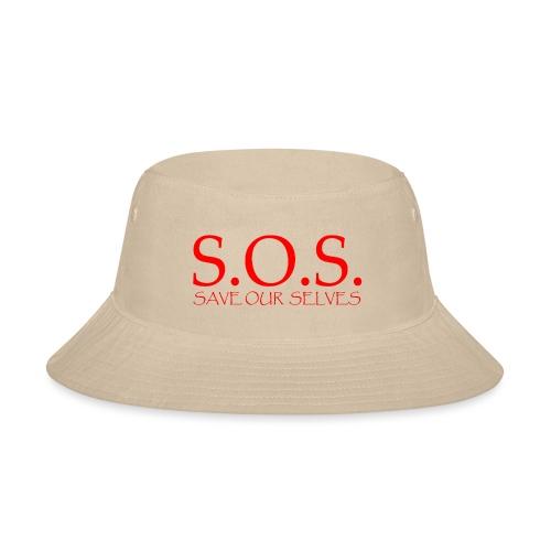 sos no emotion red - Bucket Hat