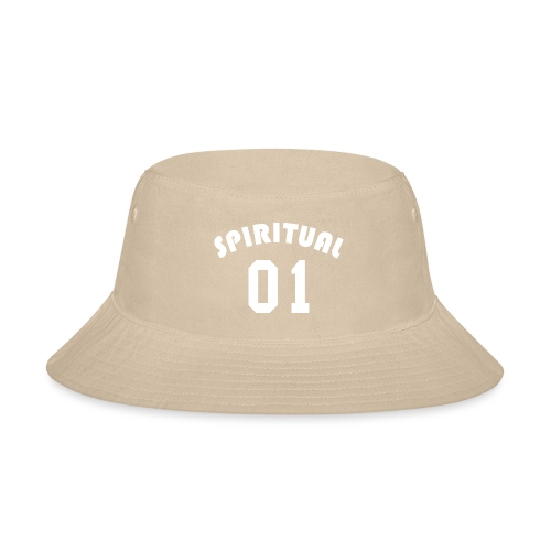 Spiritual 01 - Team Design (White Letters) - Bucket Hat