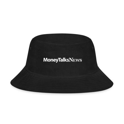 Money Talks News Logo - White - Bucket Hat