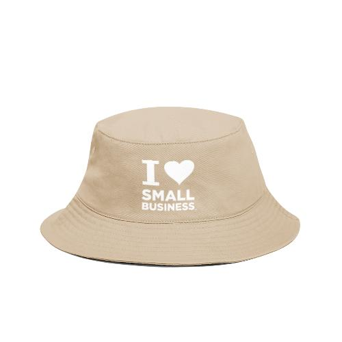 I Heart Small Business Logo (All White) - Bucket Hat