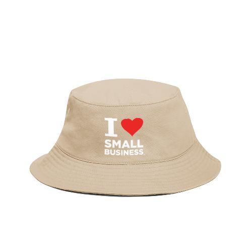 I Heart Small Business Logo (Red & White) - Bucket Hat