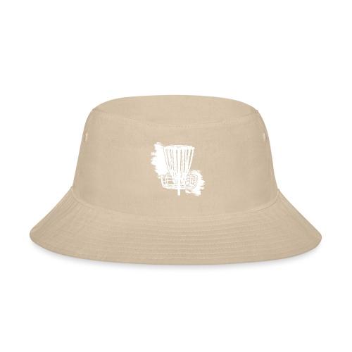 Disc Golf Basket White Print - Bucket Hat