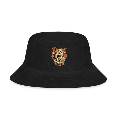 Screwed & tattooed Pin Up Zombie - Bucket Hat