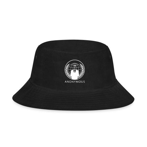 Anonymous 1 - White - Bucket Hat