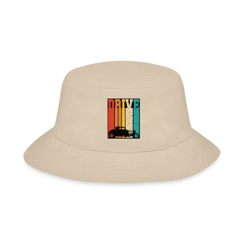 Drive Retro Hot Rod Car Lovers Illustration - Bucket Hat