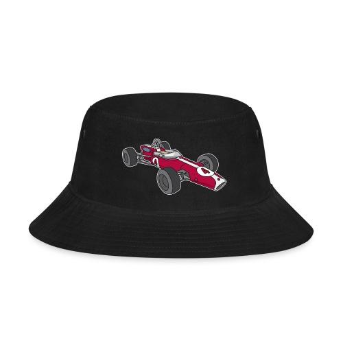Red racing car, racecar, sportscar - Bucket Hat