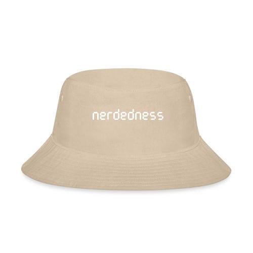 nerdedness segment text logo - Bucket Hat