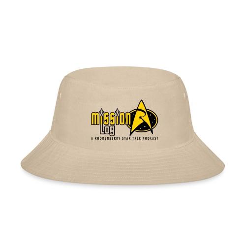 Logo Wide 2 Color Black Text - Bucket Hat