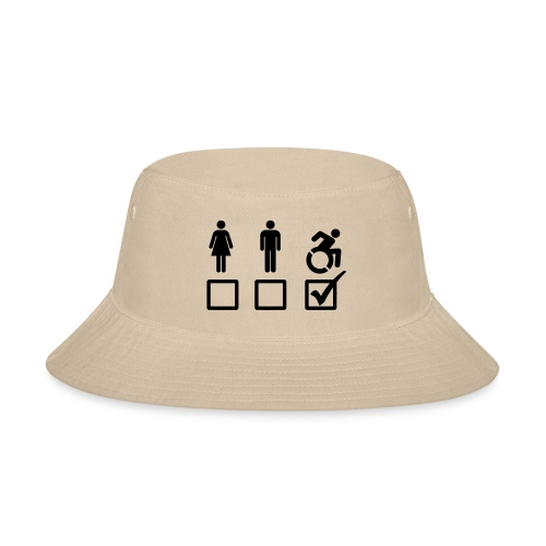 A wheelchair user is also suitable - Bucket Hat