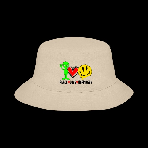 Peace Love Happpiness - Bucket Hat