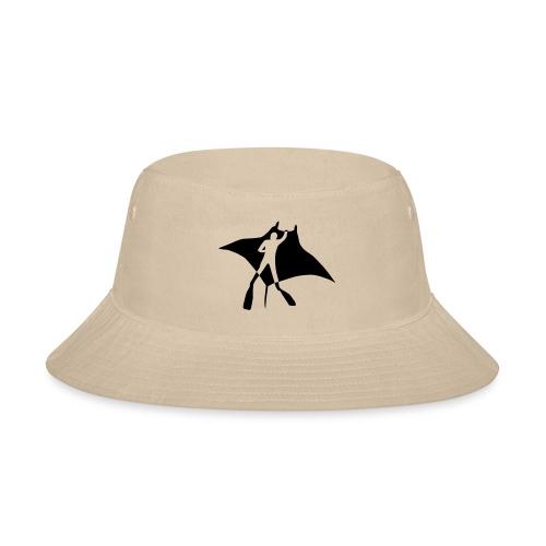 manta ray sting scuba diving diver dive fish ocean - Bucket Hat