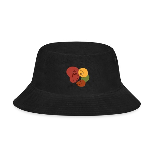 abstract minimalist face - Bucket Hat