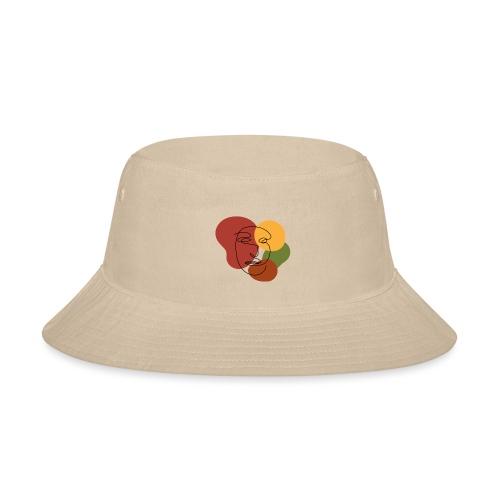 abstract minimalist face - Bucket Hat