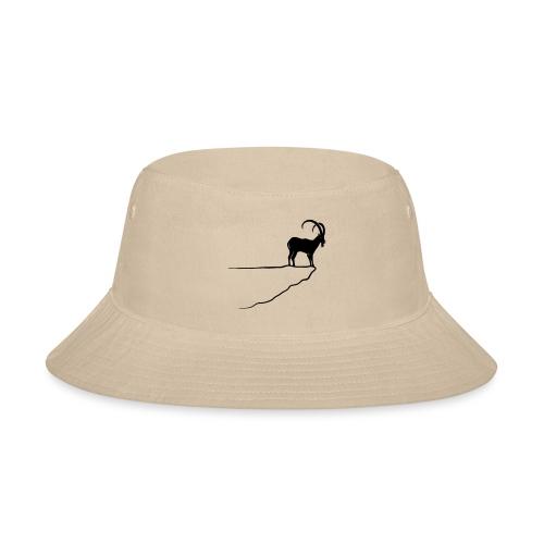 ibex capricorn mountain goat sheep rock climbing - Bucket Hat