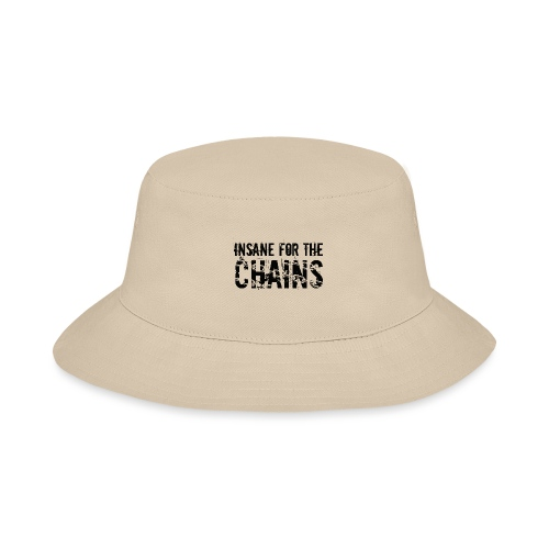 Insane For the Chains Disc Golf Black Print - Bucket Hat