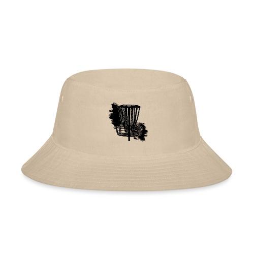 Disc Golf Basket Paint Black Print - Bucket Hat