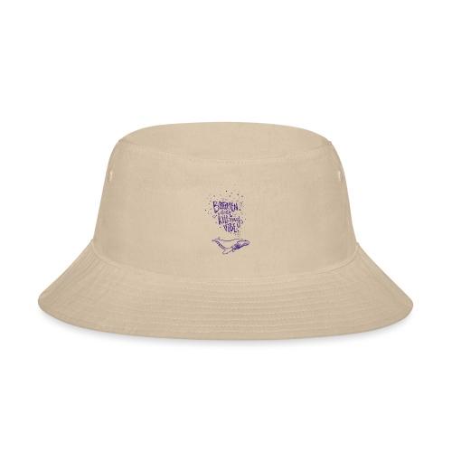 bitumen don't kill my vibe - navy - Bucket Hat