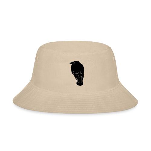 raven crow gothic bird wings dark fly - Bucket Hat