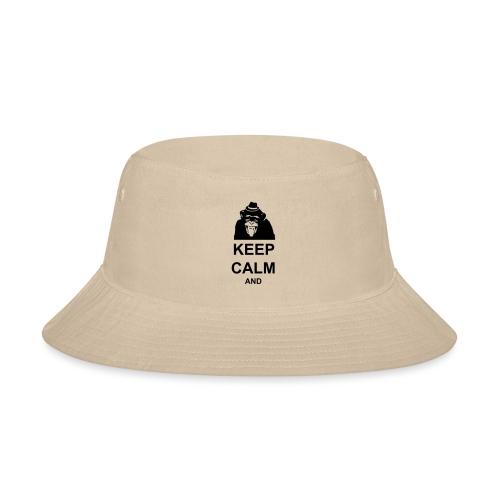 KEEP CALM MONKEY CUSTOM TEXT - Bucket Hat