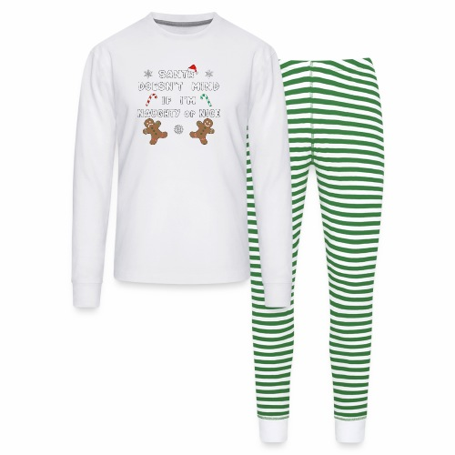 Santa Naughty or Nice Funny Kids Christmas Xmas. - Unisex Pajama Set