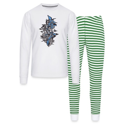 cool graffiti stack shapes - Unisex Pajama Set