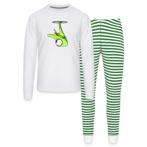 Funny Green Ostrich - Unisex Pajama Set