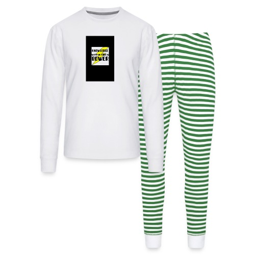 KNOWLEDGE WITH ACTION IS POWER! - Unisex Pajama Set