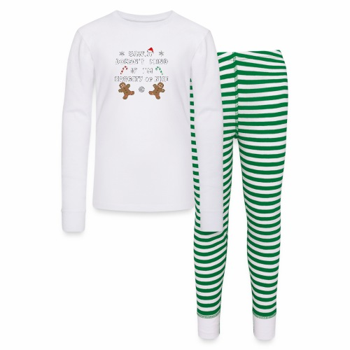 Santa Naughty or Nice Funny Kids Christmas Xmas. - Kids' Pajama Set