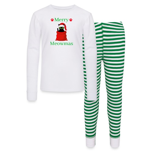 Merry Meowmas - Christmas Cat - Kids' Pajama Set