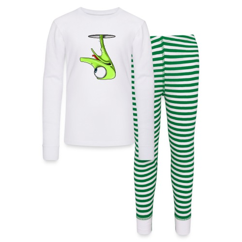 Funny Green Ostrich - Kids' Pajama Set