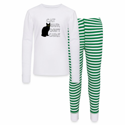 Cat Hair Don't Care Funny Adoption Furry Pet Lover - Kids' Pajama Set