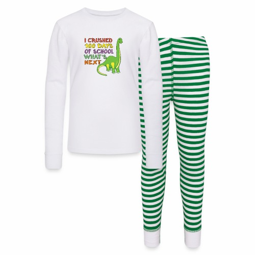 100 Days of School Dinosaur 100th Day Student Kids - Kids' Pajama Set