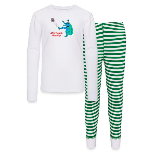 PYGOD Man kicking COVID 19 - Stay Safe Healthy - Kids' Pajama Set