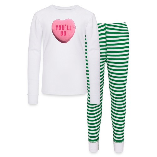 You ll Do Funny Valentines Day Candy Heart - Kids' Pajama Set
