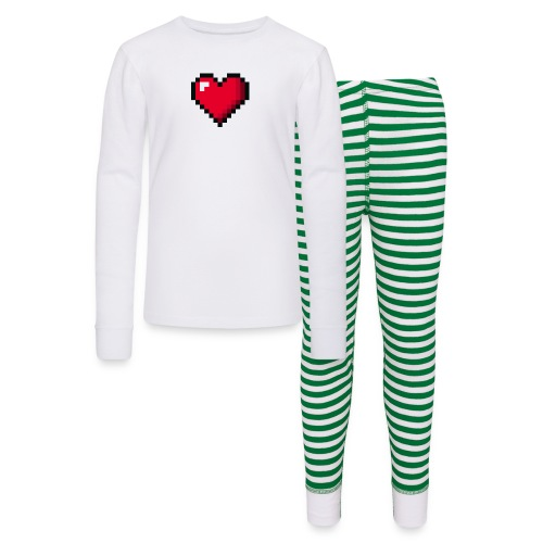 Pixel 8 bit Happy Valentine s Day Heart for Gamers - Kids' Pajama Set