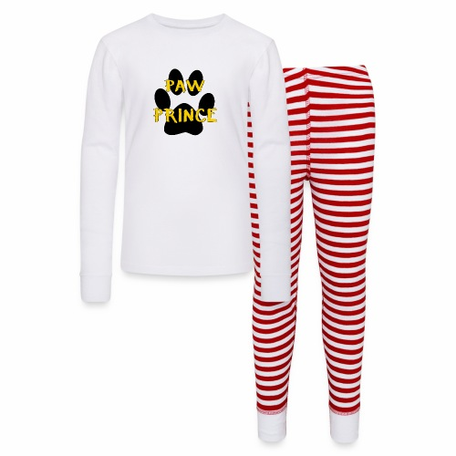 Paw Prince Funny Pet Footprint Animal Lover Pun - Kids' Pajama Set