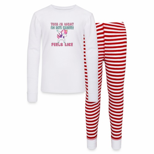 Dabbing Unicorn 100 Days Smarter Student Kids. - Kids' Pajama Set