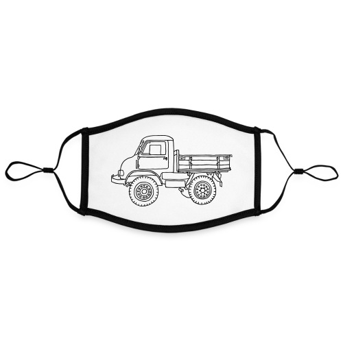 Off-road truck, transporter - Adjustable Contrast Face Mask (Large)