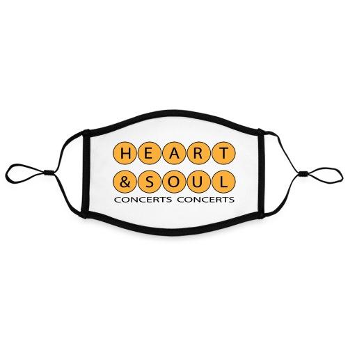 Heart Soul Concerts Golden Bubble horizon - Adjustable Contrast Face Mask (Large)
