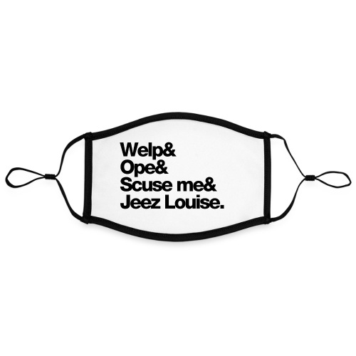 Midwest Series: Welp (Black) - Adjustable Contrast Face Mask (Large)