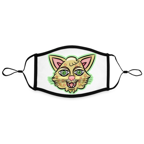 Happy Cat Gold - Adjustable Contrast Face Mask (Large)