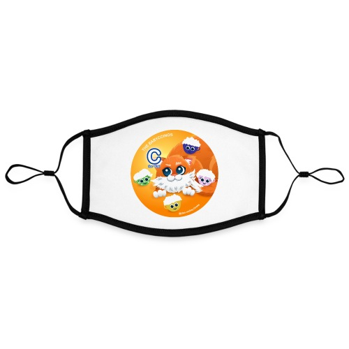 The Babyccinos The letter С - Adjustable Contrast Face Mask (Large)