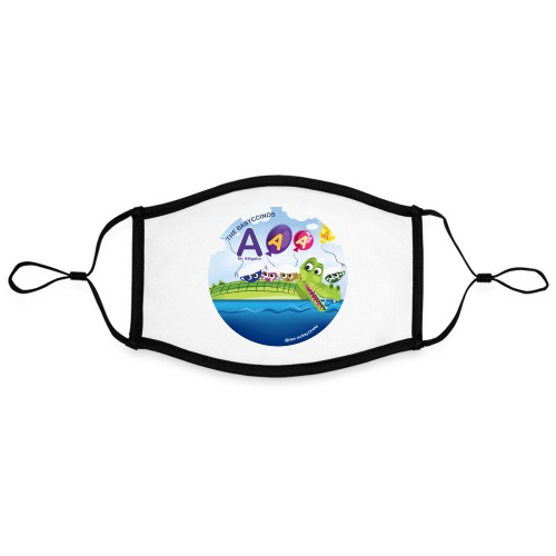 The Babyccinos The Letter A - Adjustable Contrast Face Mask (Large)