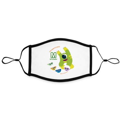 The Babyccinos M for Monster - Adjustable Contrast Face Mask (Large)