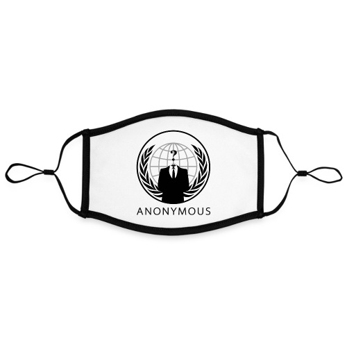 Anonymous 1 - Black - Adjustable Contrast Face Mask (Large)