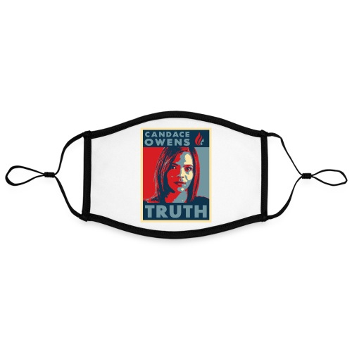 Candace Owens for President - Adjustable Contrast Face Mask (Large)