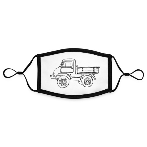 Off-road truck, transporter - Adjustable Contrast Face Mask (Small)